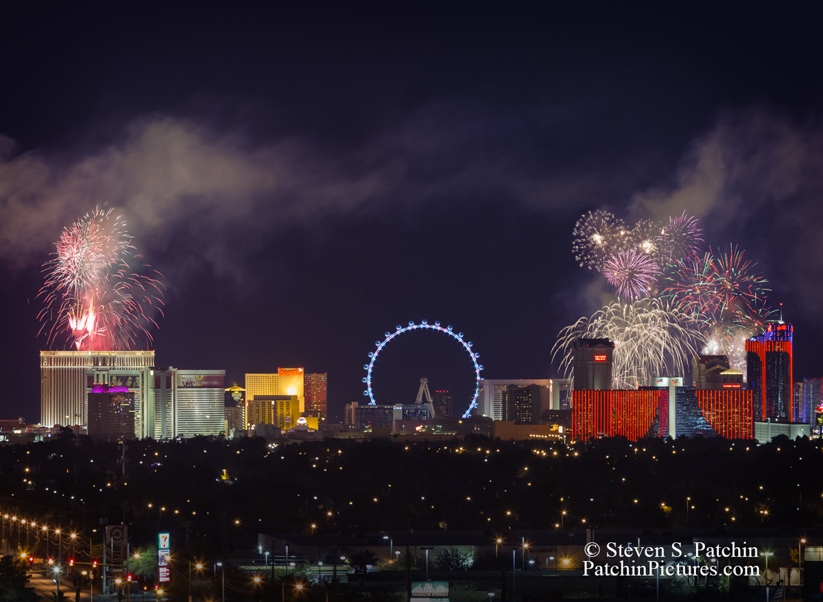 Small section of the larger Vegas Fireworks Photo