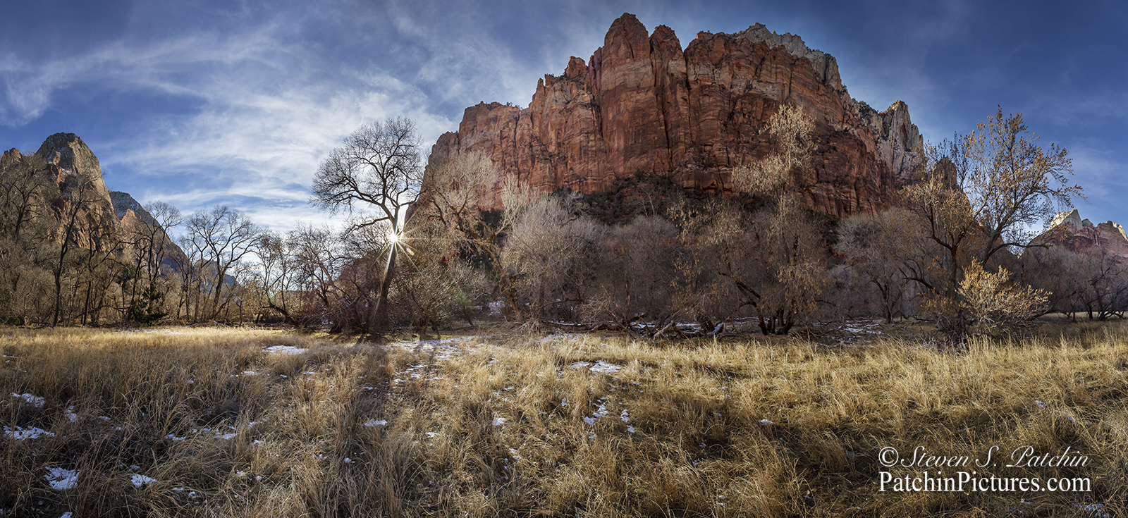 Zion Winter Sunset