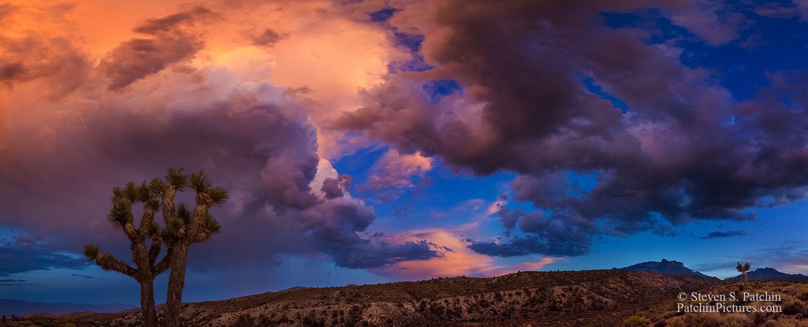 Colorful clouds along Lee Canyon Road, Nevada.