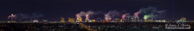 Las Vegas Strip Fireworks Panorama