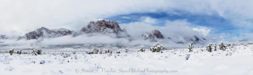 Red Rock Snow Panorama 12x40